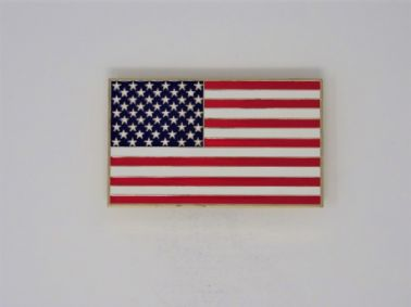 UNITED STATES OF AMERICA ( THE STARS AND STRPIES ) FLAG CAR GRILLE BADGE